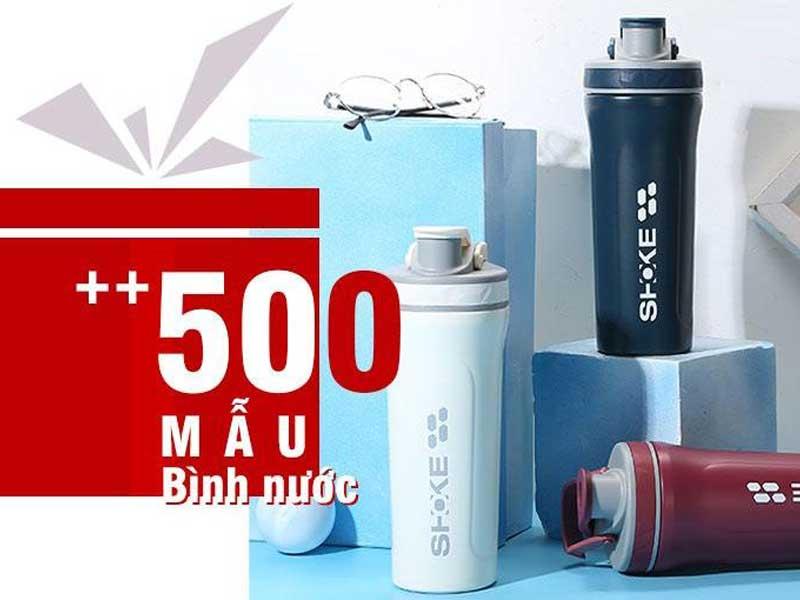 500 mẫu bình nước in logo